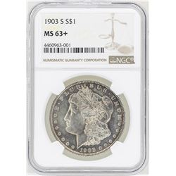 1903-S $1 Morgan Silver Dollar Coin NGC MS63+