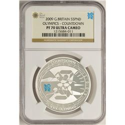2009 Great Britain 5 Pounds Olympics Commemorative Silver Coin NGC PF70 Ultra Cameo