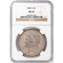 1880-S $1 Morgan Silver Dollar NGC MS65 Nice Toning