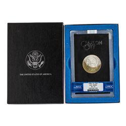 1882-CC $1 Morgan Silver Dollar Coin GSA Hoard NGC MS63 Amazing Toning w/Box