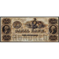 1800's $100 Canal Bank New Orleans, LA Obsolete Note