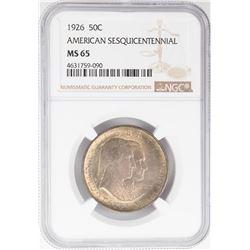1926 American Sesquicentennial Commemorative Half Dollar Coin NGC MS65