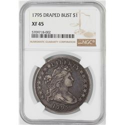 1795 $ Draped Bust Silver Dollar Coin NGC XF45
