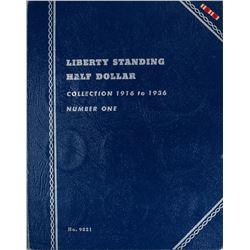 Set of 1916-1936 Walking Liberty Half Dollar Coins in Book