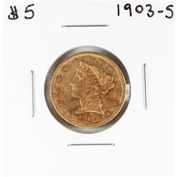 1903-S $5 Liberty Head Half Eagle Gold Coin