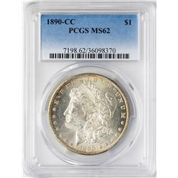 1890-CC $1 Morgan Silver Dollar Coin PCGS MS62