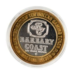 .999 Silver Barbary Coast Las Vegas, Nevada $10 Limited Edition Gaming Token