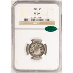 1878 Proof Shield Nickel Coin NGC PF66 CAC