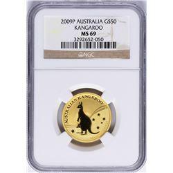2009P $50 Australia Kangaroo Gold Coin NGC MS69