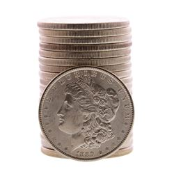 Roll of (20) Brilliant Uncirculated 1889 $1 Morgan Silver Dollar Coins