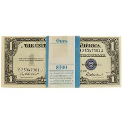 Pack of (100) Consecutive 1935F $1 Silver Certificate Notes
