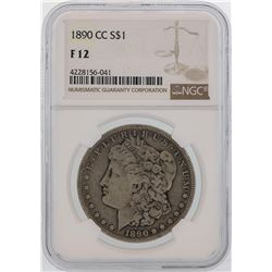 1890-CC $1 Morgan Silver Dollar Coin NGC F12