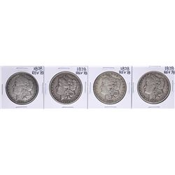 Lot of (4) 1878 Reverse of 78' $1 Morgan Silver Dollar Coins
