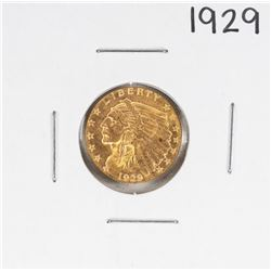 1929 $2 1/2 Liberty Head Quarter Eagle Gold Coin