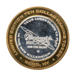.999 Silver Fitzgerald's Casino & Hotel Reno, NV $20 Limited Edition Gaming Token