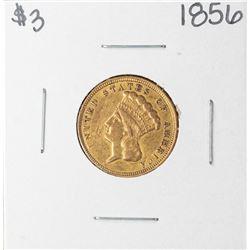 1856 $3 Indian Princess Head Gold Coin