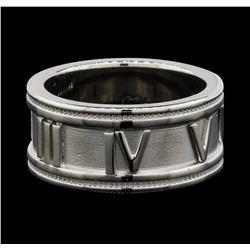 14KT White Gold George Carter Jessop Roman Numeral Designer Ring