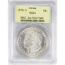 1879-S $1 Morgan Silver Dollar Coin PCGS MS64 Old Green Holder