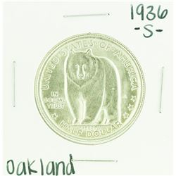 1936-S Oakland Bay Bridge Commemorative Half Dollar Coin