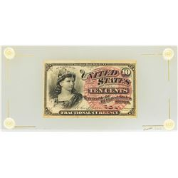 March 3, 1863 10 Cents 4th Issue Fractional Currency Note