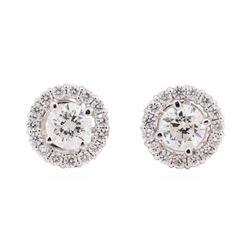 14KT White Gold 1.98 ctw Diamond Earrings