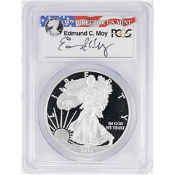 2013-W $1 American Silver Eagle Proof Coin PCGS PR69DCAM W/Edmund C. Moy Signature