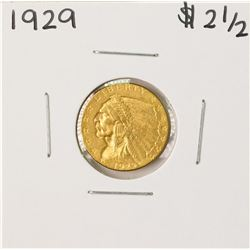 1929 $2 1/2 Indian Head Quarter Eagle Gold Coin