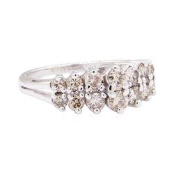 14KT White Gold 0.96 ctw Diamond Anniversary Ring