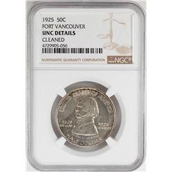 1925 Fort Vancouver Centennial Commemorative Half Dollar Coin NGC UNC Details