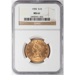 1900 $10 Liberty Head Eagle Gold Coin NGC MS61
