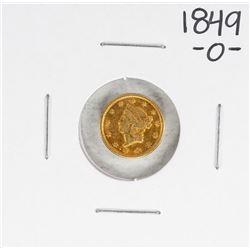 1849-O Type 1 $1 Liberty Head Gold Dollar Coin