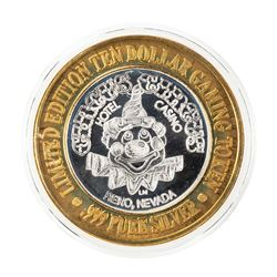 .999 Fine Silver Circus Circus Reno, Nevada $10 Limited Edition Gaming Token