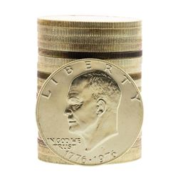 Roll of (20) Brilliant Uncirculated 1976-S Bicentennial 40% Silver Ike Dollar Coins