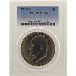 1971-D Eisenhower Dollar PCGS MS66