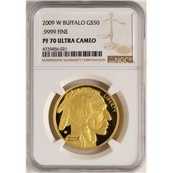 2009-W $50 Proof American Gold Buffalo Coin NGC PF70 Ultra Cameo