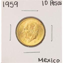 1959  Mexico 10 Pesos Gold Coin