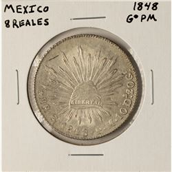 1848 GoPM Mexico 8 Reales Silver Coin