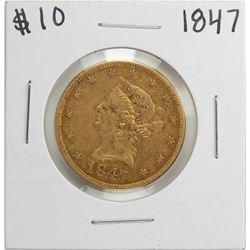 1847 $10 Liberty Head Eagle Gold Coin