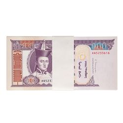Pack of (100) Uncirculated 2014 Mongolia 100 Tugrik Bank Notes