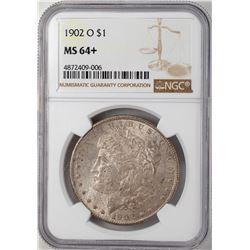 1902-O $1 Morgan Silver Dollar Coin NGC MS64+