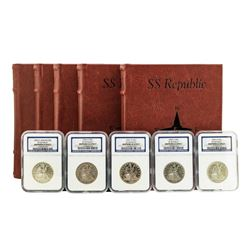S.S. Republic Shipwreck 1855-O to 1859-O Seated Liberty Half Dollar Coins NGC Graded