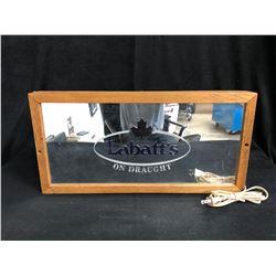 Vintage JOHN LABATT'S Light Up Beer Mirror Bar Sign