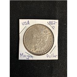 1882 U.S.A MORGAN SILVER DOLLAR