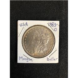 1883 U.S.A MORGAN SILVER DOLLAR (MINTED O)