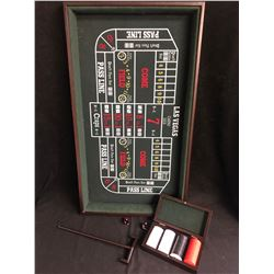 MINI CRAPS TABLE W/ CHIPS & DICE