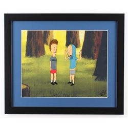Beavis & Butthead 16x19 Custom Framed Hand-Painted Animation Serigraph Cel