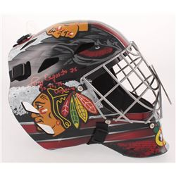 "Tony Esposito Signed Chicago Blackhawks Goalie Mask Inscribed ""70, 72, 74 Vezina"" (Schwartz COA)"