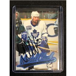 WENDEL CLARK SIGNED FLEER ULTRA HOCKEY CARD