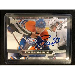 RYAN NUGENT-HOPKINS SIGNED UPPER DECK HOCKEY CARD