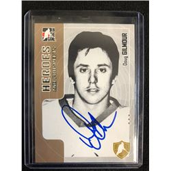 DOUG GILMOUR SIGNED IN THE GAME HEROES & PROSPECTS HOCKEY CARD